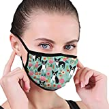 Boston Terrier Print Unisex Adult Anti Dust Mask Face Mask Mouth Mask Black