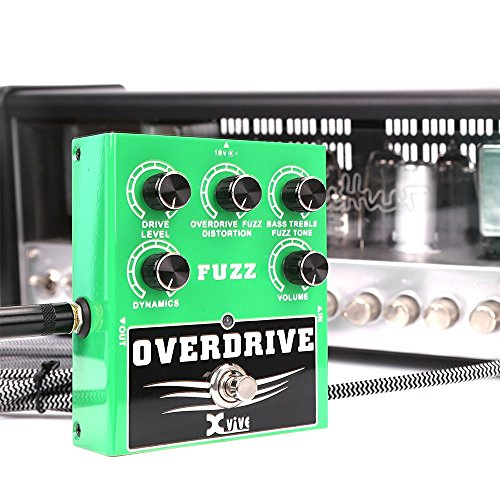 Xvive Overdrive Fuzz Bass Guitar Effects Pedal - W2
