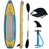 Freein Kayak|Emergency Boat| 1-2 Person Professional Series Lightweight Inflatable Kayak Sit-in Kayak Set with Aluminum Oars | Seat | Fin | High Output Air Pump | Carry Bag 10'&12'6'
