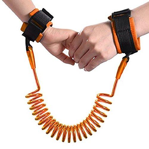 Correa de seguridad para niño de 1.5 metros - arnes de seguridad para bebes (Naranja)