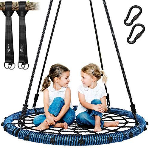 Trekassy 750 lb Spider Web Swing 40 inch for Tree Kids with Steel...