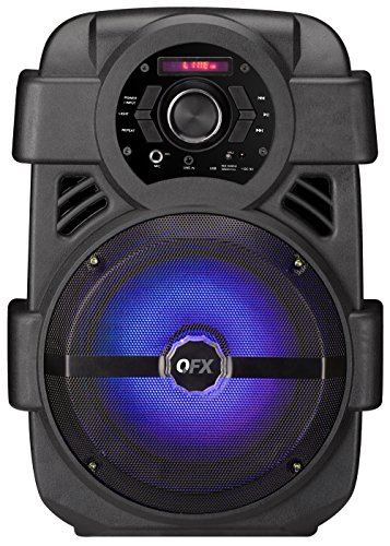 QFX PBX-8 Rechargeable 8' Party Speaker,Black