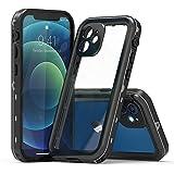 iPhone 12 mini 防水ケース 5.4インチ DINGXIN IP68防水規格 指紋認証対応 防水 防雪 防塵 耐……