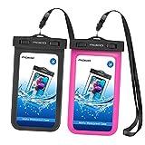[2 Pack] Universal Waterproof Phone Pouch, MoKo IPX 8 Waterproof Phone...