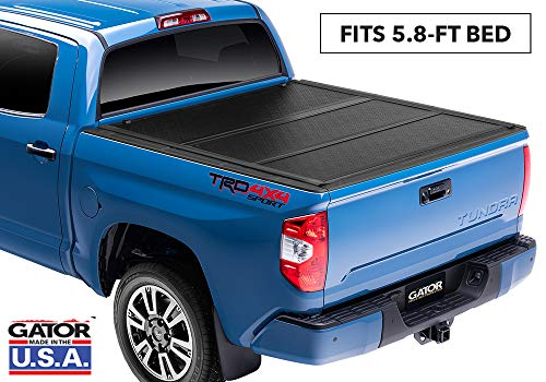 Gator EFX Hard Tri-Fold Truck Bed Tonneau Cover   GC14018   Fits 2014 - 2018, 2019 Ltd./Lgcy. Chevy Silverado Legacy/GMC Sierra Limited 1500 w/ rail system 5' 8' Bed   Made in the USA