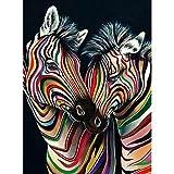yaonuli DIY Pintar por númerosDecoración del hogar Animal Cebra Multicolor 40x50cm Sin Marco
