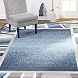 Home Dynamix Lyndhurst Rotana Modern Area Rug, Contemporary Blue/Gray/Ivory 5'2'x7'4'
