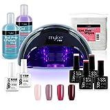 Mylee - Kit Manucure Gel Semi-Permanent, 4x Couleur MYGEL, Base et Top Coat,...