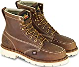 """Thorogood American Heritage 6"""" Steel Toe Boots For Men - Breathable Moc Toe Leather Work Boots For Men With Slip-Resistant MAXWear 90 Heel Outsole and Goodyear Welt - Trail Crazyhorse, 9 D(M) US"""