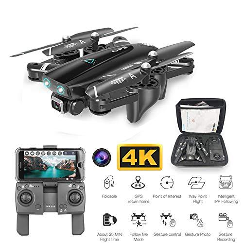 Drone con la macchina fotografica 4K HD GPS pieghevole Wifi FPV RC Drone con la modalit senza testa RC Quadcopter elicottero, giocattolo regalo facile da pilotare per ragazzi e ragazze,1080P2.4G