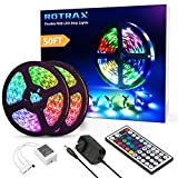 50ft Led Strip Lights, Rotrax Ultra-Long Color Changing Flexible Strip 450 LEDs with Remote Control...
