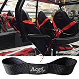 Aces Racing (Pair) 4 and 5 Point Harness Belt Holder/Strap (Black)