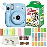 FUJIFILM INSTAX Mini 11 Instant Film Camera Plus Instax Film and Accessories Stickers, Hanging...