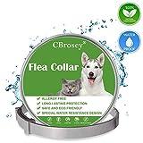 CBROSEY Collier Anti Puces pour Chien,Anti Puces Chat,Anti-Puces,Anti Tiques,Imperméable Ajustable 25 Pouces...