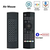 DZSF Backlit Air Mouse T3 Smart Voice Remote Control 2.4G RF Wireless Keyboard 6-Axis Gyroscope for X96 Mini KM9 A95X H96 MAX Android TV Box(1Pcs)
