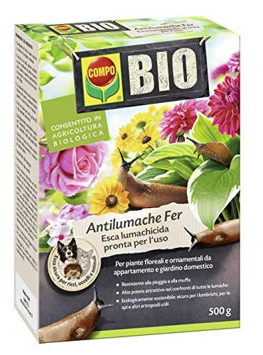 COMPO BIO Antilumache Fer PFnPO, Per Piante Floreali e Ornamentali da appartamento e giardino domestico, Consentito in agricoltura biologica, 500 g
