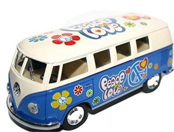 Volkswagen VW Camper Van by Kinsmart Love and Peace Model