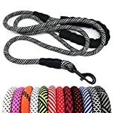 MayPaw Heavy Duty Rope Dog Leash, 6/8/10 FT Nylon Pet Leash, Soft Padded Handle Thick Lead Leash for Large Medium Dogs Small Puppy