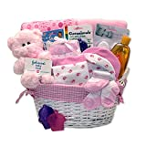Simply Baby Girl Necessities Basket - Pink