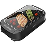 hOmeLabs Smokeless Indoor Electric Grill - Removable Non-Stick Grill Grates, Tempered Glass Lid,...