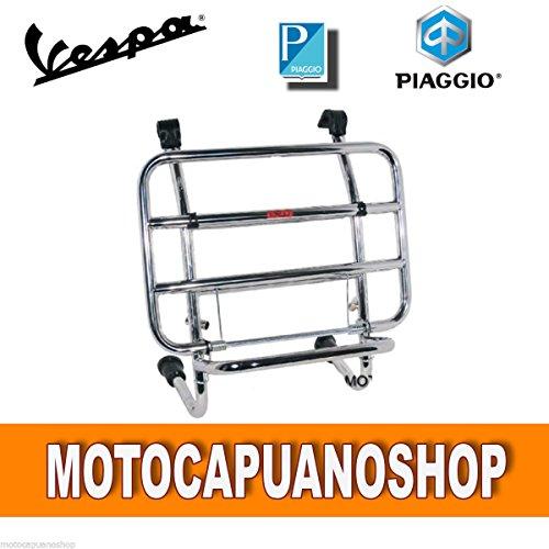 PORTAPACCHI ANTERIORE CROMATO VESPA 125 150 200 PX - ARCOBALENO - DISCO