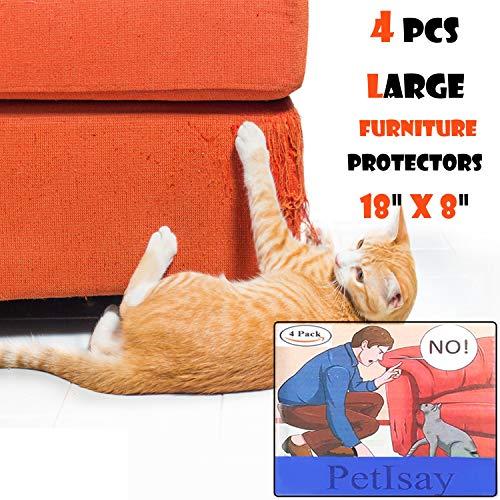 PetIsay Mobili Protezioni da Gatti (Set da 4,Dimensioni:46x20.5cm), Fogli Autoadesive con Perni di...