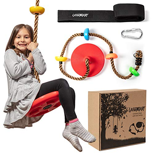 Climbing Rope Tree Swing with Platforms and Disc Swings Seat -...