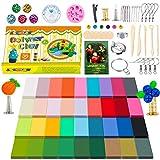 Kit de pâte à modeler pour enfants - 36 couleurs - Pâte polymère - Pâte à modeler au four - Pâte à modeler avec outils - Pour enfants - Cadeaux...