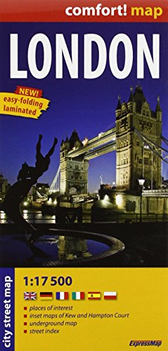 London - laminowany plan miasta 1:17 500: Londres, plano callejero plastificado. Escala 1:17.500. Ex