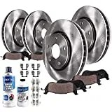 Detroit Axle - All (4) Front and Rear Disc Brake Kit Rotors w/Ceramic Pads Replacement for 2010-2017 GMC Terrain/Chevy Equinox - 10pc Set