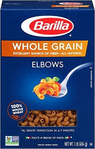 Barilla Whole Grain Pasta, Elbows, 16 Ounce ( Package of 6- 1lb boxes)