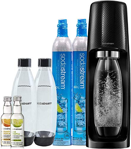 SodaStream Fizzi Sparkling Water Maker Bundle (Black), with CO2,...