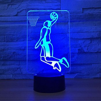 Slam Dunk Éclairage de Basket-Ball Éclairage Changement de Couleur Sport Night Light Room Décoration Amis Enfants Cadeaux