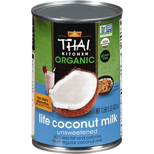 Thai Kitchen Organic Gluten Free Lite Coconut Milk, 13.66 fl oz (Pack of 6)