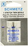 Schmetz 1774 Twin Stretch Machine Needle Size 2.5/75 1ct (2 Pack)