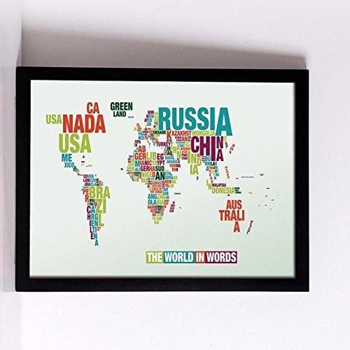 La Carte du monde au point de croix Kits 14ct Égypte Fil de coton 240*...