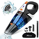 Hikeren Handheld Vacuum, Hand Vacuum Cordless 7Kpa Strong Suction Powered by Li-ion Battery Rechargeable Quick Charge Tech, Mini Vacuum for Home and Car Cleaning, Black& Orange