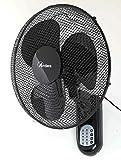 Ardes AR5W40R PARETO COOL RC Ventilatore Oscillante a Parete Pala 40 Cm, con Telecomando, 3 Livelli di Velocità, Timer, Modalità Notturna