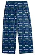Officially Licensed by the NFL National Football League and Seattle Seahawks Team and Logo Scatter Pattern 2 outside pockets, Elastic at Waist, Buttonless Fly, 94% Polyester 6% Elastane Very comfortable pants to wear for lounging, sleeping or workout...