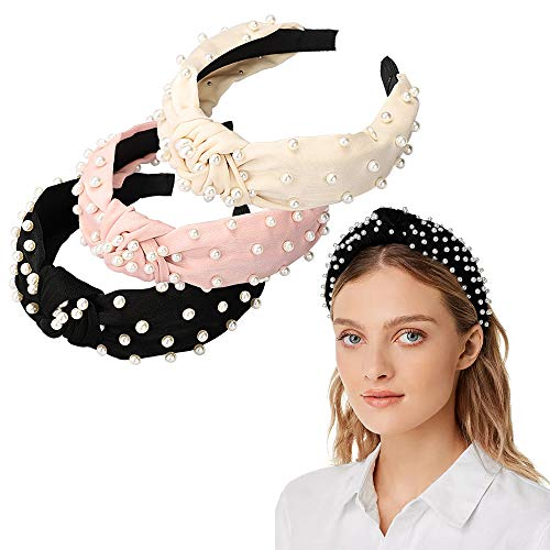 ❤【Cute Style】: Come with 2 different style headbands(Pearl and Bee) in 6 vibrant colors, Beautiful, Cute and Elegant Design will make you look more charming and fashionable, match most of your clothes and suitable for any occasions. Our hairbands not only keep you a wonderful fashion looking but also Hold your hair in place while you washing face or make up! ❤【Comfortable to Wear & Not Hurt Your Hair】: Both stylish headbands are delicate handmade, made of elastic hoops, wrapped with soft satin fabric, velvet lining, which is stretchable and comfortable to wear, it will not hurt your hair and not easy to slip. The hair hoops is great stretchy for both women and girls. Super durable material, not easy to broke or slip and no harm to your scalp. ❤【Wide Application】: Very Practical and Charming hairbands for ladies and girls. Suitable for many occasions like party, ceremonies, birthday, banquet and daily wearing, work, school, holiday, traveling, shopping, club, sporting, doing Yoga and so on. We would be very excited if you share some photos with us in your review.
