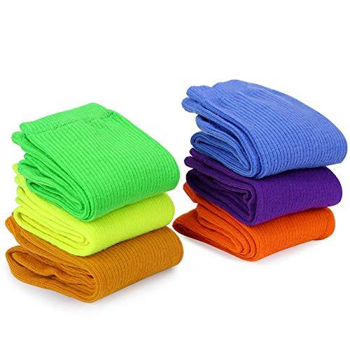 MOSOTECH 6 Paia Cotone Calze Donna, Colorati Casuali Calze per Donne Ragazze, Morbidi, Traspiranti, Taglia Unica 35-41