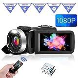 Caméra Vidéo Caméscope FHD 1080P 30FPS Camescope de Vision Nocturne IR...