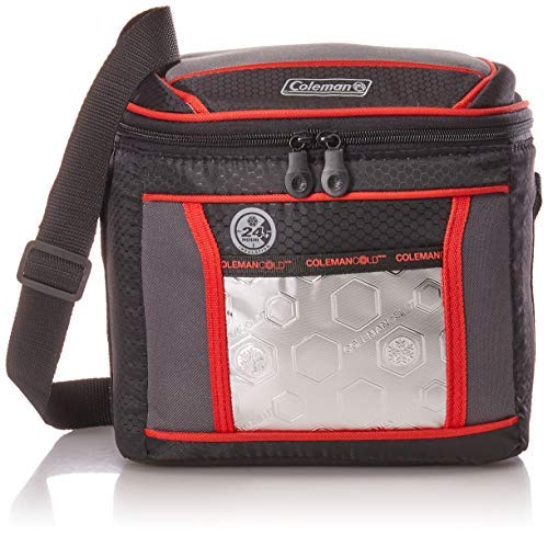 Coleman Soft Cooler Bag, 9 Can Insulated Lunch Cooler with Adjustable Shoulder Straps,Great for Picnics, BBQs,Camping,Tailgating & Outdoor Activities