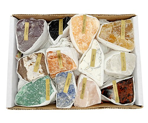 Natural Gemstone Mix 1.5-2 lbs Full Box Approx. 10-15 Pieces...