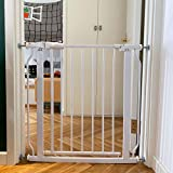 BalanceFrom Easy Walk-ThruSafety Gate for Doorways and Stairways with Auto-Close/Hold-Open Features, Multiple Sizes, White