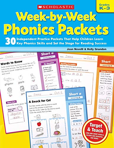 Week-by-Week Phonics Packets: 30 Independent Practice...