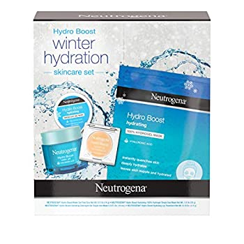 Give the gift of deeply hydrated skin with the 4 items in Neutrogena Hydro Boost Holiday Winter Gift Set including Hydro Boost Water Gel Moisturizer, Hydro Boost 100% Hydrogel Face Mask, Hydro Boost Overnight Gel Mask, and Hydro Boost Lip Treatment T...