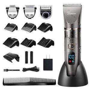 Hatteker Mens Beard Trimmer Cordless Hair Trimmer Hair Clipper Detail Trimmer 3 In 1 for Men Hair...