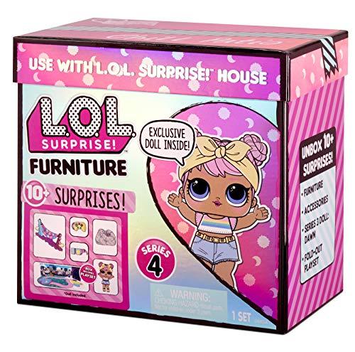 Image 5 - LOL Surprise Furniture - Poupée Dawn & + de 10 Surprises, meubles & accessoires – Mini set de jeu à ouvrir - Compatible avec La maison OMG série 4 - Poupées à collectionner pour filles de 3 ans et +