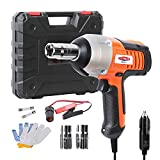 12V DC Impact Wrench 1/2 Inch Electric Impact Wrench, Portable Car Impact Wrench Kit with Sockets and Carry Case Dobetter-DBIW12